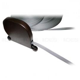 Zwijacz taśmowy do rolet w kolorze brązowym