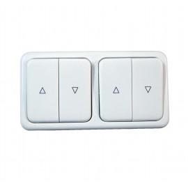 Ramka podwójna do przełącznika klawiszowego i obrotowego INPROJAL