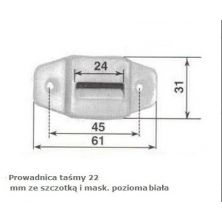 Przelotka pozioma do taśmy 22 mm