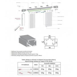 Silnik radiowy do zasłon DT52E-45/20
