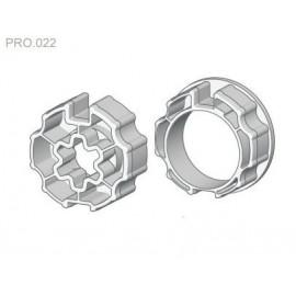 Zabierak i adapter Ø70 do rury okrągłej w napędach serii PRO