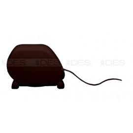 Zwijacz na linkę LUX w kolorze brązowym z połyskiem